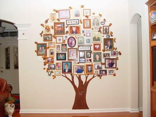 This is what I call a family tree. Creative and easy way to display family pics.