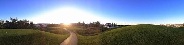 Panoramic photo of Glen Eagle Golf Course in Utah