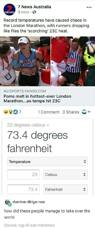 Das ist eigentlich eine sehr heiße Temperatur, in der man laufen kann. Viele Leute (einschließlich mir) würden wahrscheinlich lieber bei 60 ° F Wetter laufen