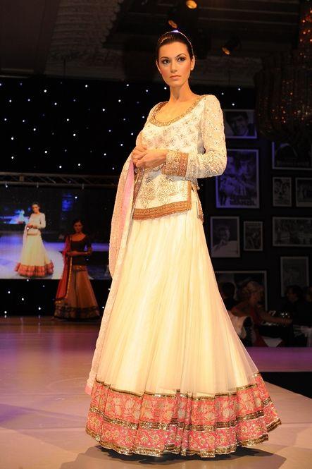 White Lengha-- Manish Malhotra Indian Bridal Fashion Indian Cinema Gala London   Indian Wedding Site