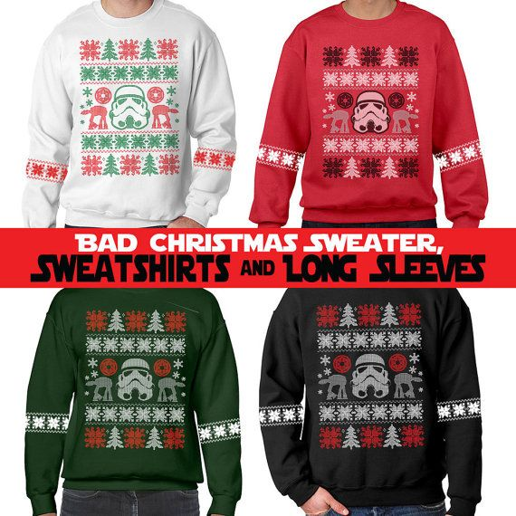Faux Bad Christmas Sweaters Darkside  by ChattanoogaTshirt on Etsy