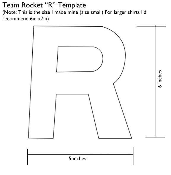 Team Rocket R Template by Kaira27.deviantart.com on @deviantART