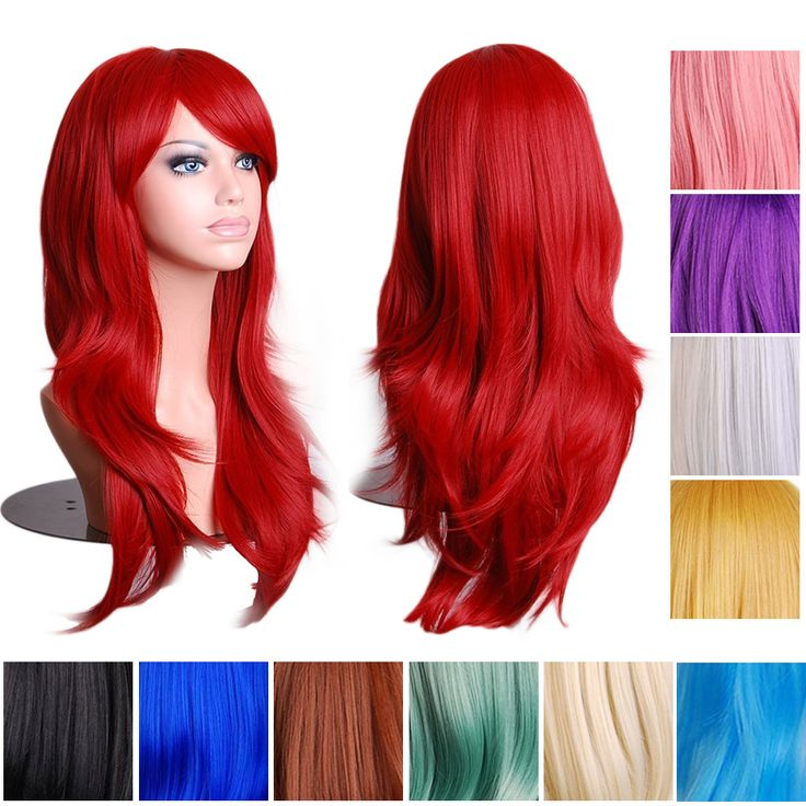 Find More Synthetic Wigs Information about 14 Colors 70cm Long Wavy Full Head Wig Anime Cosplay Synthetic Lace Fron Wig, Black Blue Pink White Red Purple Cosplay Cheap Wig,High Quality wig hair,China wig comb Suppliers, Cheap wig human from Guangzhou queen hair products co., LTD on Aliexpress.com