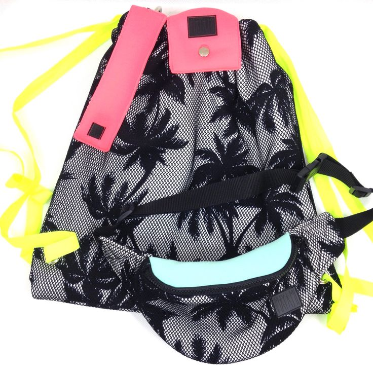 Palm trees backpack  Scuba Silver nylon lining Summer 2015☀️