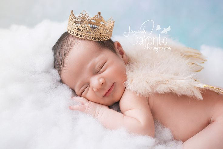 Adorable Newborn Baby Boy Floating on a Cloud Wearing ...
