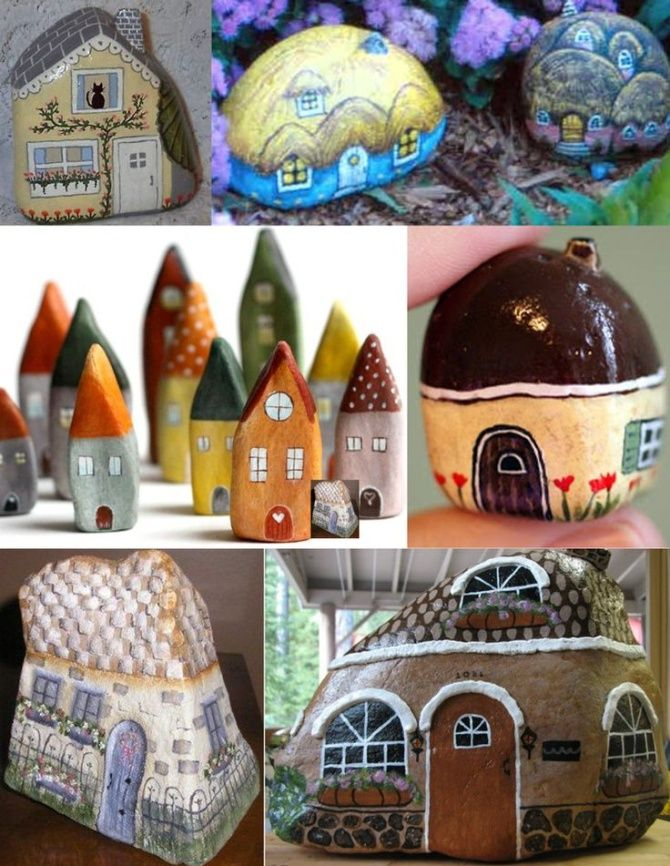 Painted Rock Fairy House 4