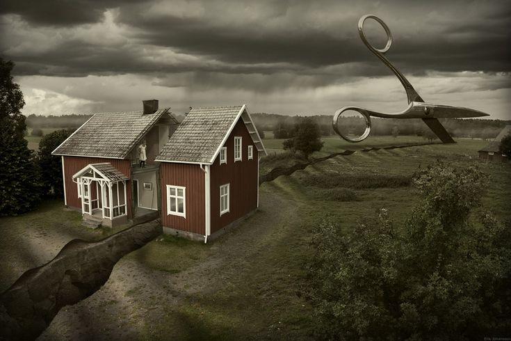 Deep cuts - Erik Johansson surreal photographer