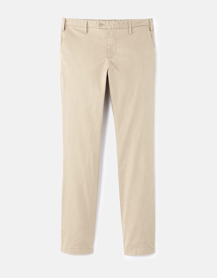 Pantalon slak uni - FOGER_CAMEL - Image à plat - Celio France