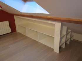19 best images about meubles rangement sous pente en. Black Bedroom Furniture Sets. Home Design Ideas