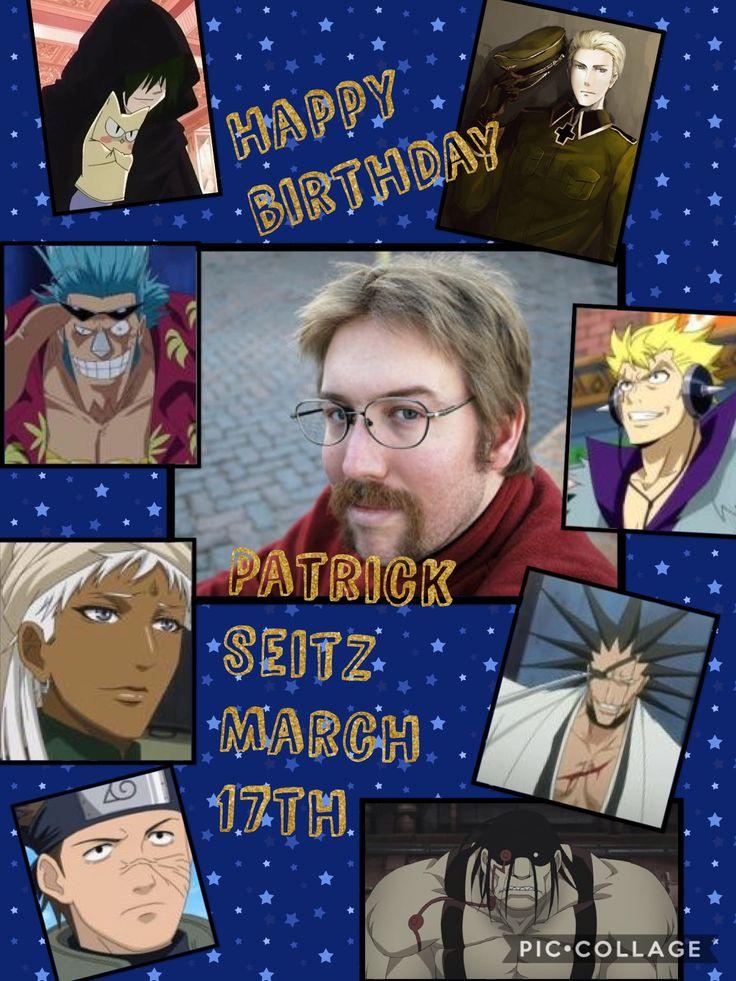 Happy birthday Patrick Seitz!