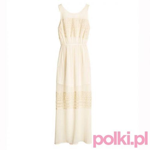 Sukienka maksi z koronkowymi wstawkami, H&M