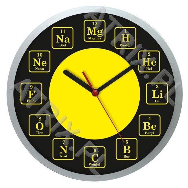 Zegar naścienny solid chemia #1 ATRIX.PL