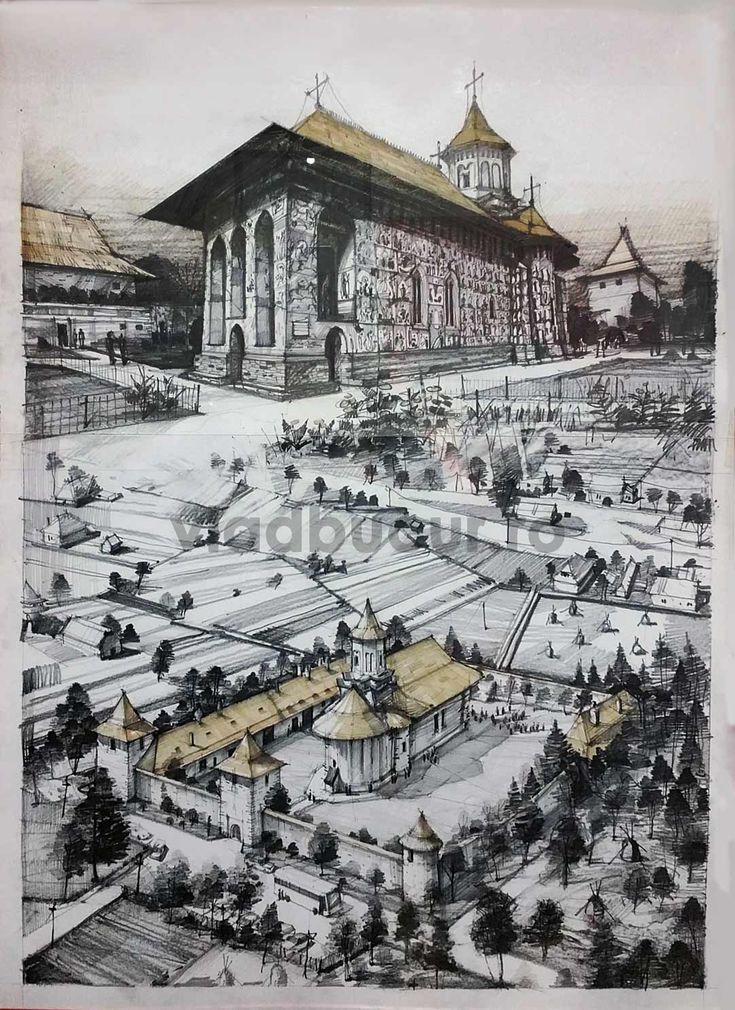 Architectural drawings and sketches on vladbucur.ro