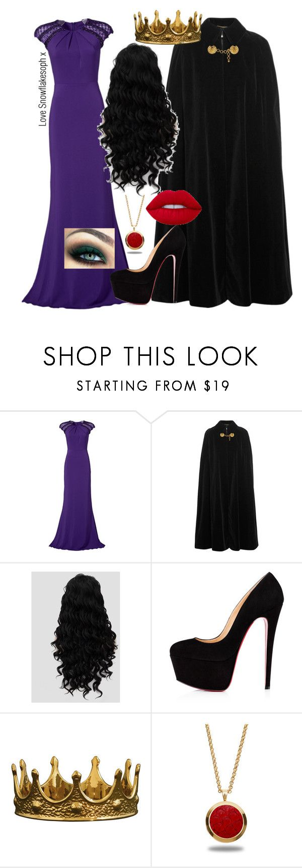 """""""The Evil Queen"""" by snowflakesoph ❤ liked on Polyvore featuring Badgley Mischka, Yves Saint Laurent, Marlin Birna and Lime Crime"""