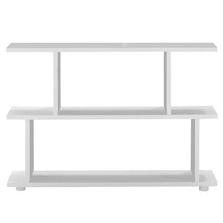 Formby Bookshelf Low  White