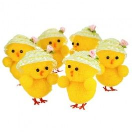 These cute Easter novelty chick decorations are perfect for Easter crafting and even Easter bonnet decorations!