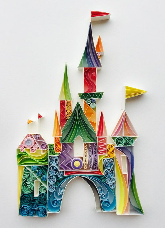 The Place Where Wishes Come True by SenaRuna Quilled Paper Art. Follow on Instagram @SenaRuna. This quilling is created and designed by Sena Runa, please just like/share it.