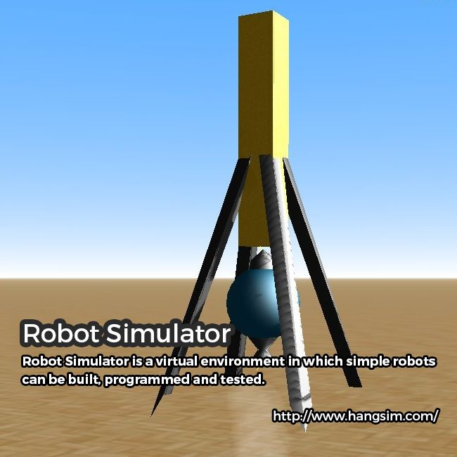 Do you wish for a virtual environment wherein simple robots can be built, programmed and tested? Buy Robot Simulator of Hand Sim! It is actually unique as compared to other simulators due to the fact that it is extremely easy to use and intuitive. This makes the simulator perfect as an educational tool and ideal initiation point for building and programming robots. For details, please explore the website.  http://www.hangsim.com/