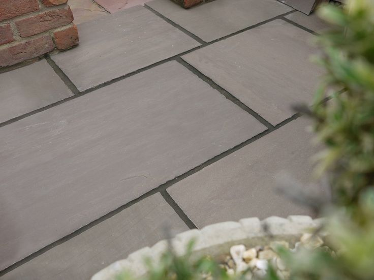 Indian sandstone patio paving slabs flags raj green grey for Garden decking and slabs