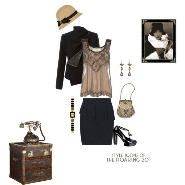 """A simple 1920's outfit - 1920's style"" by cristina-barberis on Polyvore"