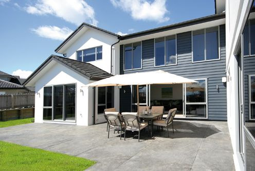 Outdoor dining adds to the benefits of this large family home.