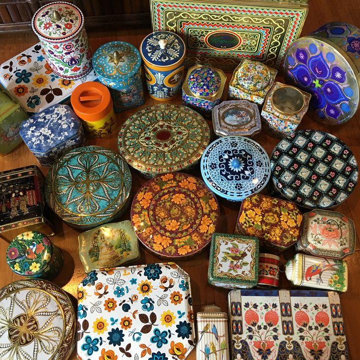 Vintage tin box collection