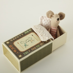 Girl Mouse in a Matchbox   christmas stocking fillers for kids   christmas   rigby & mac