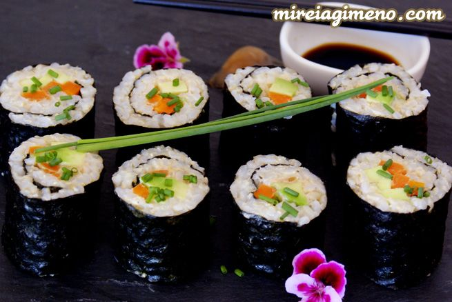 Maki Sushis - Rollitos de arroz integral en mireiagimeno.com
