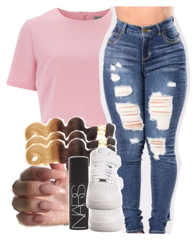 """""""Untitled #366"""" by melaninmula ❤ liked on Polyvore featuring Alice & You, NARS Cosmetics and NIKE"""