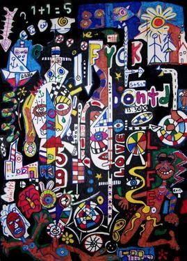 "Saatchi Art Artist dimitris p; Painting, ""Abstract painting-the life"" #art"