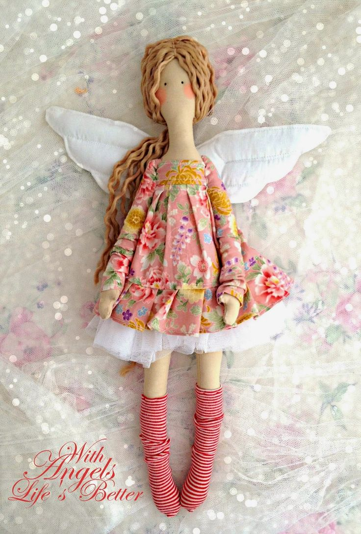 Gorgeous angel, fairy cloth doll.
