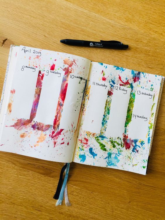 30 wunderschöne Aquarell Bullet Journal Layout-Ideen