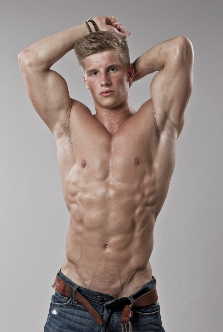 sexy men muscle blond naked model