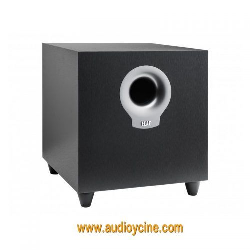 ALTAVOZ DEBUT S10 DE ELAC. A custom 10-inch long-throw driver provides the quality and quantity of bass that is fundamental to accurately reproducing today's demanding movie soundtracks and music. All ELAC subwoofers utilize BASH tracking amplifiers that track the input signal and adjust the available supply voltage to a traditional Class AB amplifier. The subwoofer will detect when an audio signal is being sent to the amplifier and will power on. #Altavoz #Subwoofer #Elac