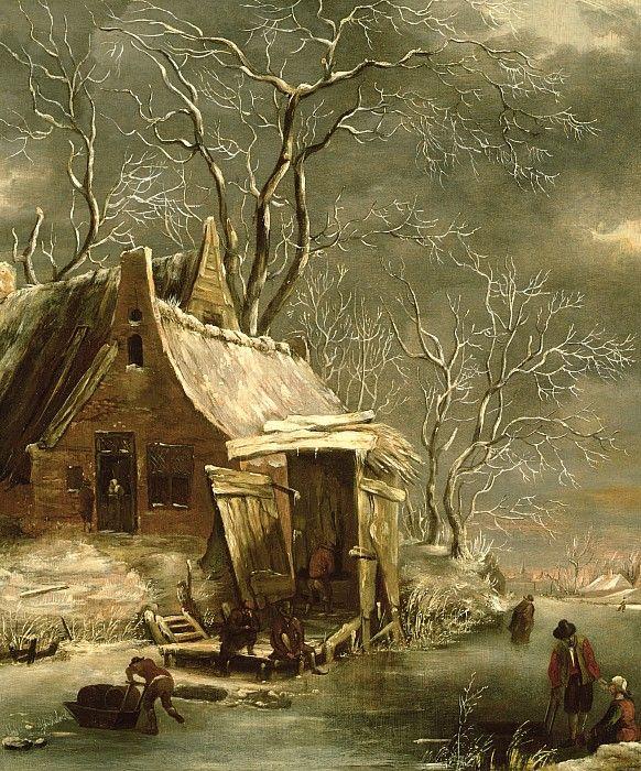jan beerstraten winter-scene-