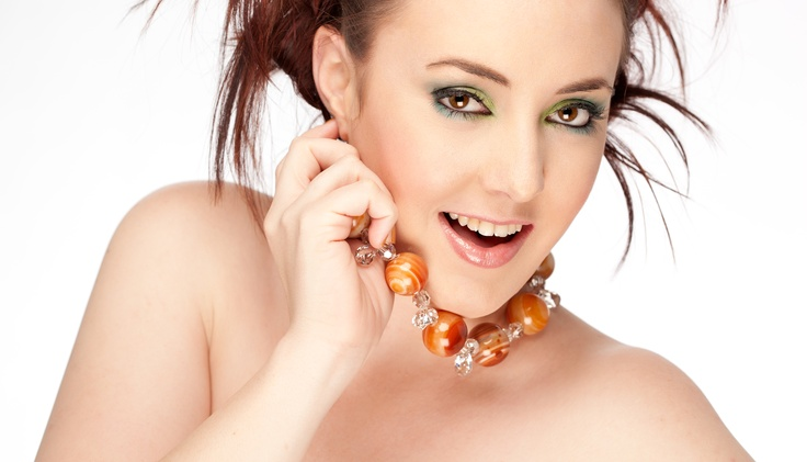 Chunky Orange Agate Round & Swarovski Crystals Finished with Sterling  Jewellery Designer: Dragonfly Fine Designs      Photographer: Shane Baker - www.balmainstreetstudio.com.au