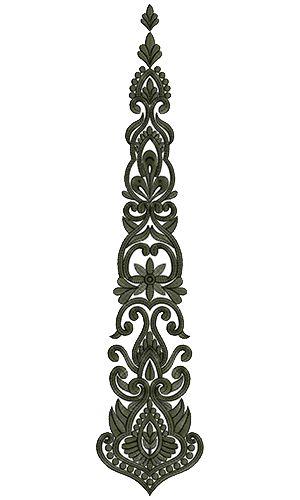 9251 Anarkali Embroidery Design