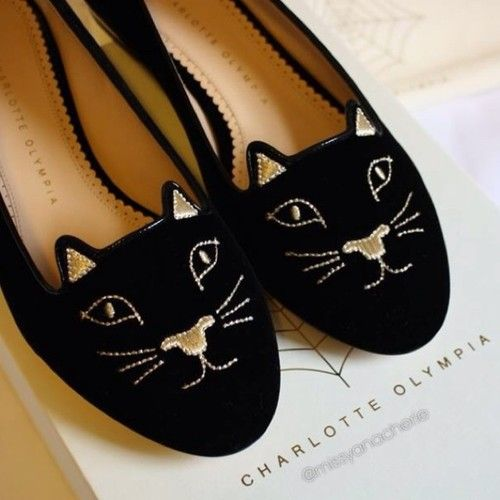 bergdorfprincess:  Charlotte Olympia kitty loafers available here, here, here