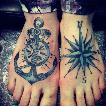 55 ideias criativas de tatuagens para os pés