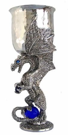 Platinum dragon goblet want pinterest dragons and pewter - Pewter dragon goblet ...