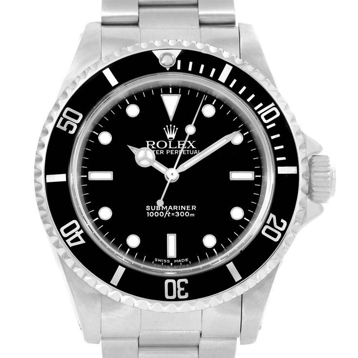 14609 Rolex Submariner Non Date 2-Liner Steel Mens Watch 14060 SwissWatchExpo
