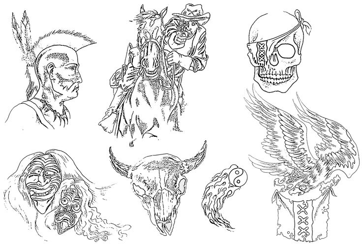 Displaying 18> Images For - Black And Grey Evil Tattoo Flash...
