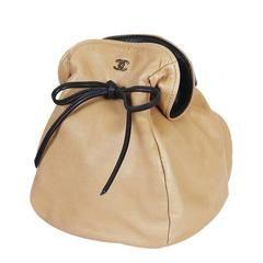 Vintage Chanel Draw String Mini Handbag, Evening Bag Rare