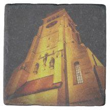 Church at Night Marble Stone Coaster $9.95