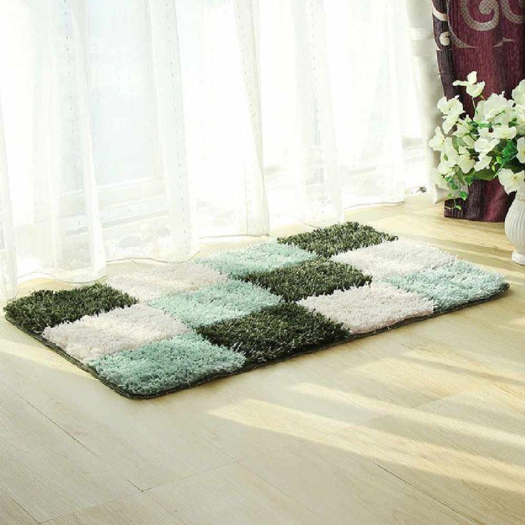 50*80CM Microfiber Door Mats Soft Big Carpets Bedroom Strip Soft Big  Non Slip