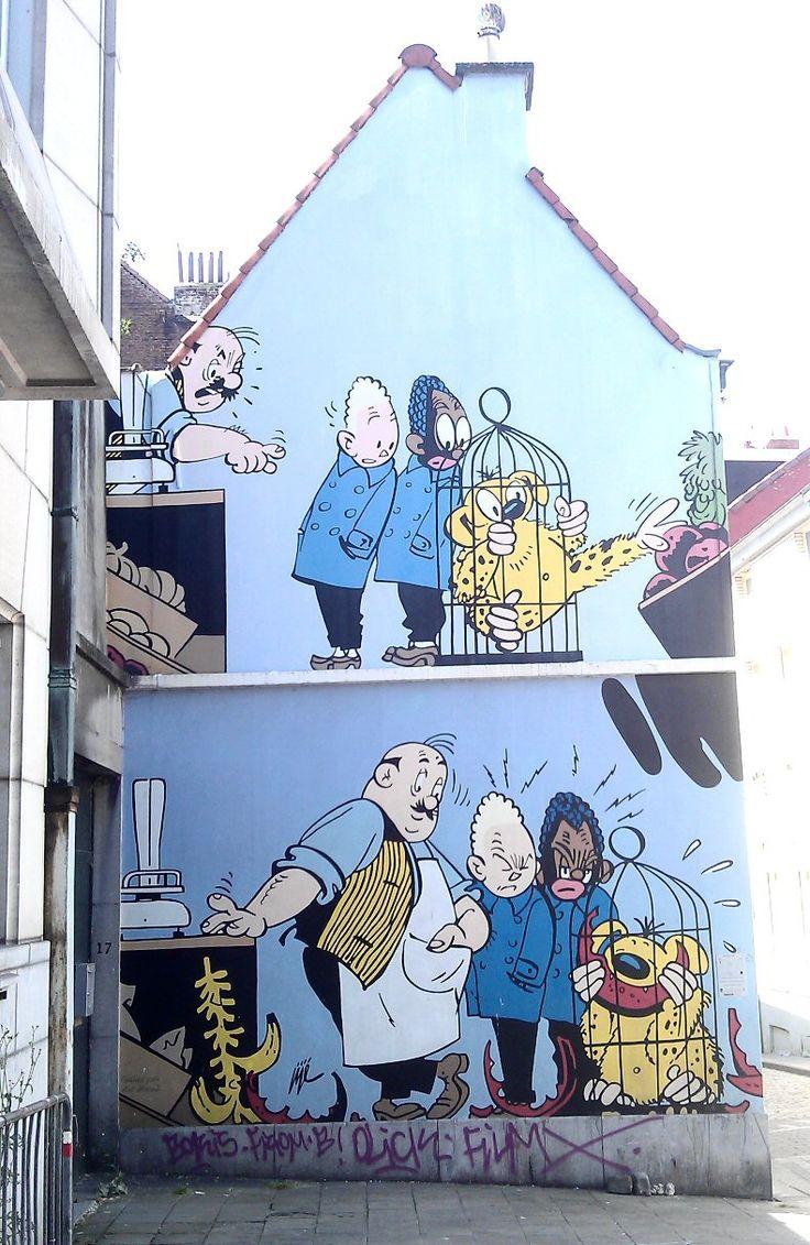 Mur BD Blondin et Cirage - 1000 Bruxelles