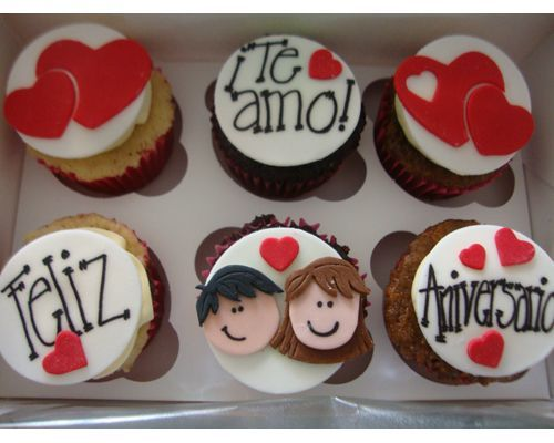 bouquet de cupcakes san valentin - Buscar con Google