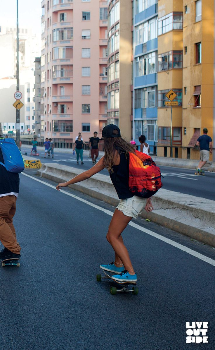 Carry the beach with you everywhere you go. Even skating on the Minhocão in downtown São Paulo, the High Stakes backpack gives you room to be ready for wherever the day takes you. Don't forget your swimsuit and beach blanket. Click the image to shop.