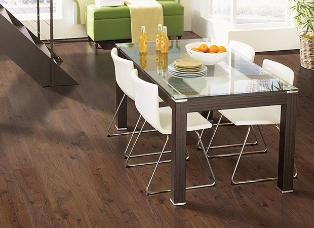 Dark Brown Laminate Wood Floor For Contemporary Kitchen Design Rustic Saddle Oak By