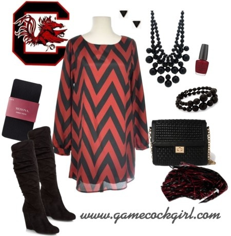 Gamecock Girl Gameday Look - Chevron Cutie #gamecocks